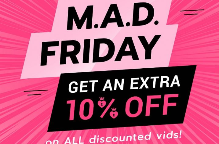 ManyVids M.A.D. Friday Sale – 10% Off! (Sept 13, 2019)