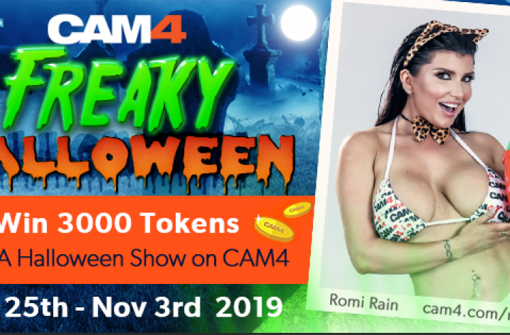 CAM4 Freaky Halloween Contest: Oct 25th – Nov 33rd, 2019