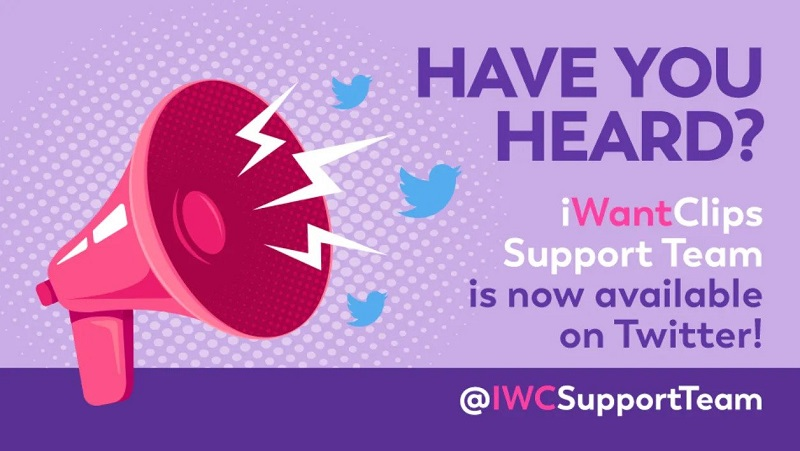 iWantClips Twitter Support