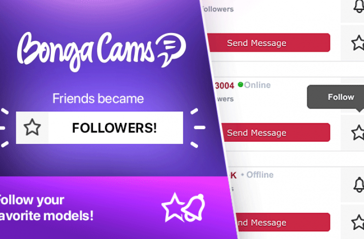 BongaCams adds new follower features