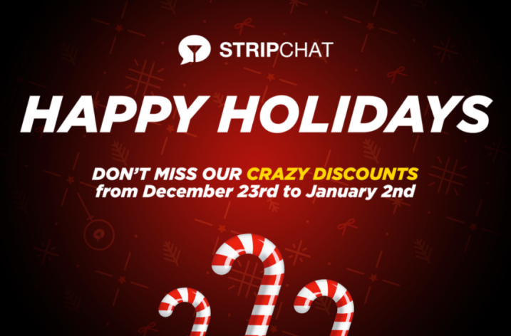 Stripchat Holiday Token Bonuses (Dec 23, 2019-Jan 2, 2020)