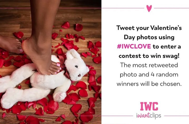 iWantClips 2020 Valentines Day Twitter Contest: Feb 12-15