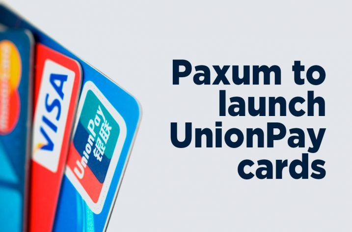 Paxum Releases New Unionpay International Card