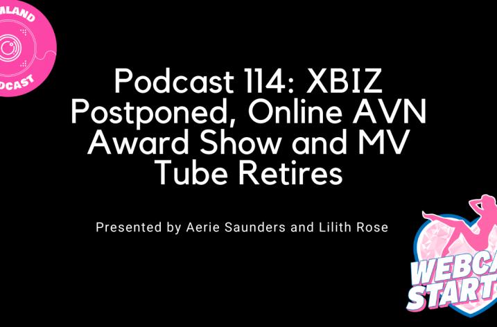Podcast 114: XBIZ Postponed, Online AVN Award Show and MV Tube Retires