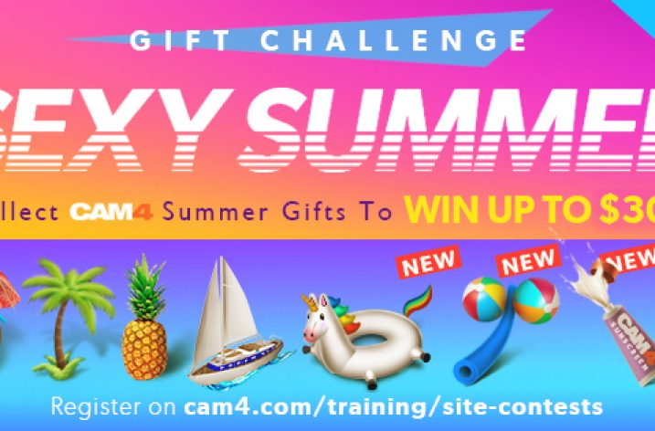 Cam4 Summer Gifting Contest (July 20 – August 2, 2020)