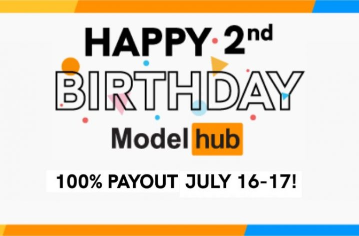 Modelhub announces 100% payout on 2nd anniversary (July 16-17, 2020)